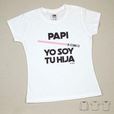 Camiseta o Sudadera Bebé y Niño/a Papi Yo soy tu Hija Rosa