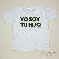 Camiseta o Sudadera Bebé y Niño/a Yo soy tu Hijo Negro