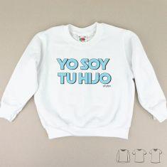 Camiseta o Sudadera Niño/a Yo soy tu Hijo azul