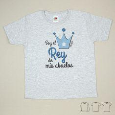 Camiseta o Sudadera Niño/a Soy el rey de mis Abuelos