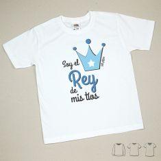 Camiseta o Sudadera Bebé y Niño/a Soy el Rey de mis Tíos