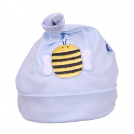 Gorro Beauty & The Bib Azul con Abejita +6M