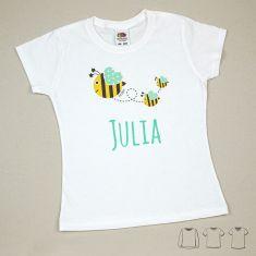 Camiseta o Sudadera Bebé y Niño/a Personalizada Abejitas