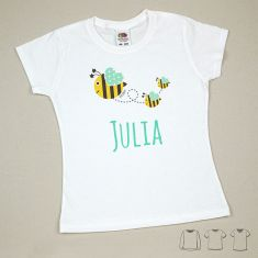Camiseta o Sudadera Niño/a Nombre + Abejitas