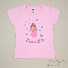 Camiseta o Sudadera Bebé y Niño/a Personalizada Hada Corazones