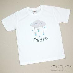 Camiseta o Sudadera Bebé y Niño/a Personalizada Nube Azul