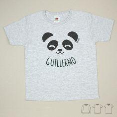 Camiseta o Sudadera Bebé y Niño/a Personalizada Oso Panda