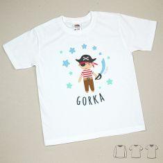Camiseta o Sudadera Bebé y Niño/a Personalizada Pirata Estrellas