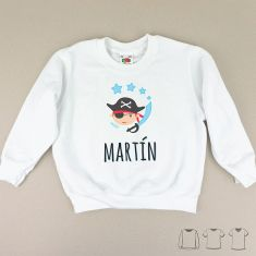 Camiseta o Sudadera Niño/a Pirata personalizada