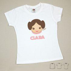 Camiseta o Sudadera Niño/a Princesa Leia personalizada