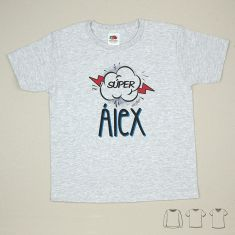 Camiseta o Sudadera Niño/a Súper Azul personalizada