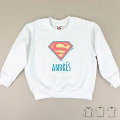 Camiseta o Sudadera Niño/a Nombre + Superman