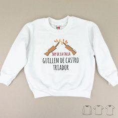 Camiseta o Sudadera Niño/a Soy de la Falla...(el nombre de tu falla)