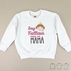 Camiseta o Sudadera Niño/a Soy Fallera como mi Mamá