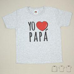 Camiseta o Sudadera Bebé y Niño/a Yo corazón Papá