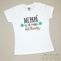 Camiseta o Sudadera Niño/a Mi Papá es el mejor del mundo