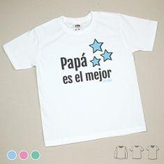 Camiseta o Sudadera Niño/a Papá es el mejor Menta, Azul o Rosa