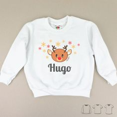 Camiseta o Sudadera Navideña personalizada reno