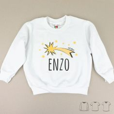 Camiseta o Sudadera Navideña personalizada estrella fugaz