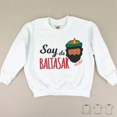 Camiseta o Sudadera Niño/a Navideña Soy de Baltasar