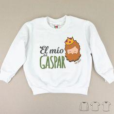 Camiseta o Sudadera Niño/a Navideña El mío es Gaspar