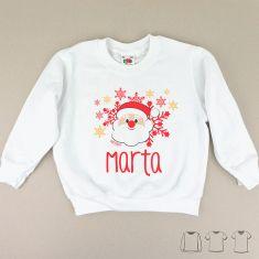 Camiseta o Sudadera Navideña Personalizada con Papá Noel