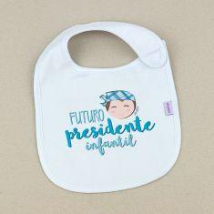 Babero Divertido Futuro Presidente infantil