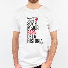 Camiseta Divertida Papá (Nombres) dicen que soy el mejor Papá de la historia