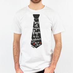 Camiseta Divertida Papá Corbata Soy el mejor Papá de la historia para (nombres)