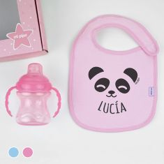Cajita Yummy! Rosa o Azul Nombre + Panda