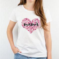 Camiseta Divertida Mamá (corazón de corazones)