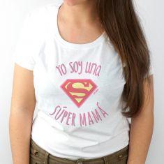 Camiseta Divertida Yo soy una Super Mamá