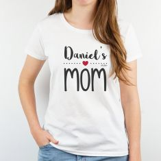 Camiseta Personalizada Mamá Nombre niño/a Mom