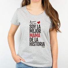 Camiseta Personalizada Mamá Nombre/s dice/n que Soy la mejor Mamá de la historia