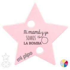 Broche Pinza Mi mamá y yo somos La Bomba