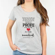 Camiseta Personalizada Hombre/Mujer (texto alumnos) Dicen que soy el profe más genial del mundo mundial Corazón