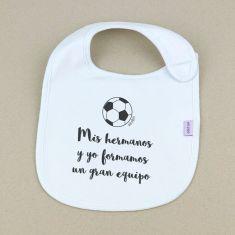 Babero Personalizado Extra libre Balón futbol +3m