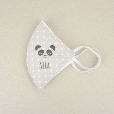 Mascarilla Higiénica reutilizable Personalizada Panda Niño o Adolescente/Mujer Color a elegir