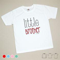 Camiseta o Sudadera Niño/a Little brother Menta, azul, rojo o rosa