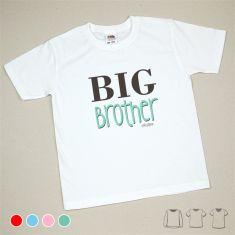 Camiseta o Sudadera Niño/a Big Brother Menta, azul, rojo o rosa