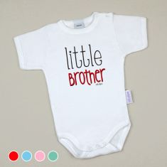 Babidu Body Divertido Little Brother Menta, Azul, Rosa o Rojo