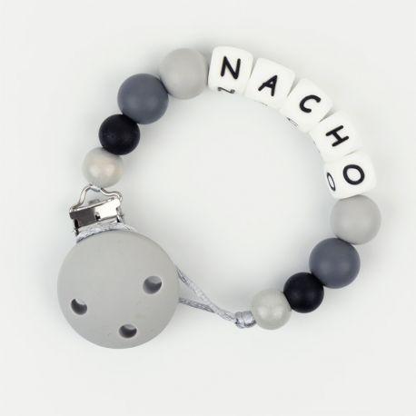 Silicone Chain Personalized Gray