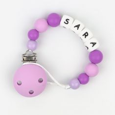 Silicone Chain Personalized Lila