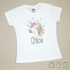 Camiseta o Sudadera Niño/a Personalizada Nombre + Unicornio