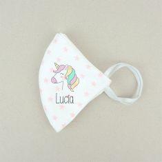 Mascarilla Higiénica reutilizable Personalizada Unicornio