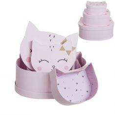 Cajitas de regalo forma gatitos rosa 3u