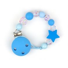 Cadenita Silicona Confeti Azul