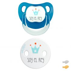 White Duo Baby Chic Pacifier and Clip chain Pack