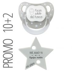 PTL White personalized New Classic pacifier