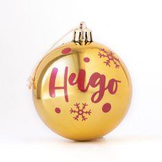 Bola Navidad Dorado Brillo personalizada